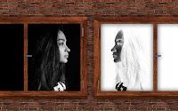 negative Reflection of a woman