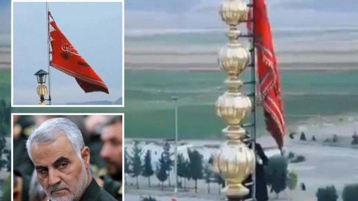 Bendera Merah Berkibar di Kota Suci Tanda Isyarat Perang Terbuka, Media Iran Ungkap 35 Target