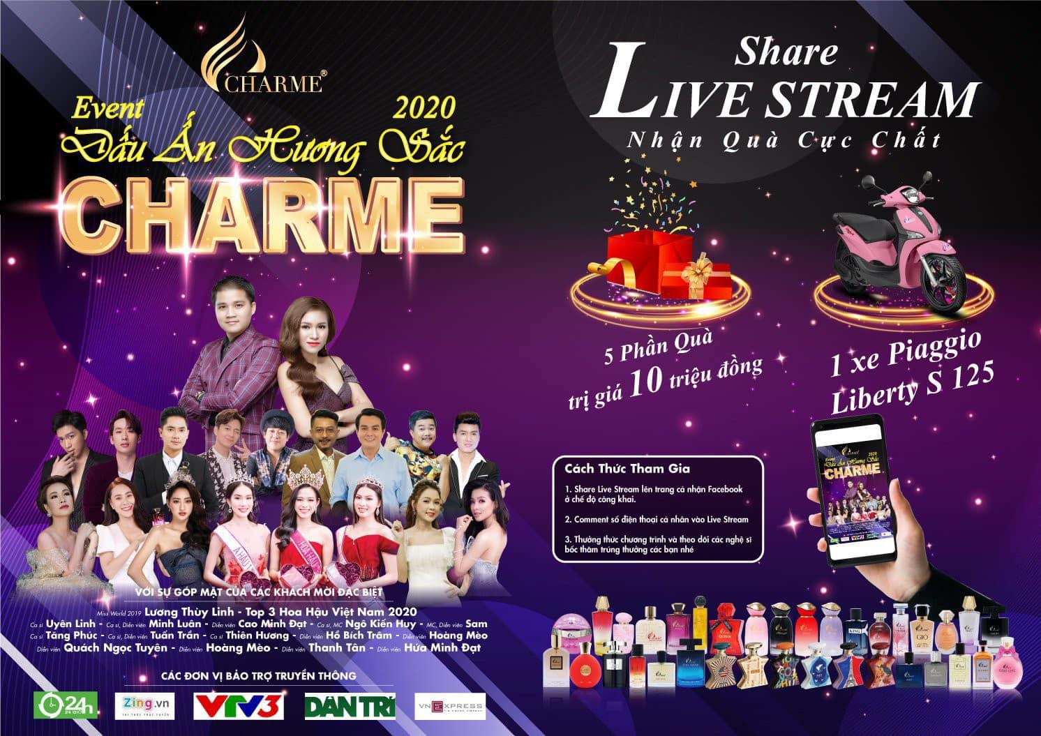 dự thưởng event Charme Dấu Ấn Hương Sắc 20/12/2020