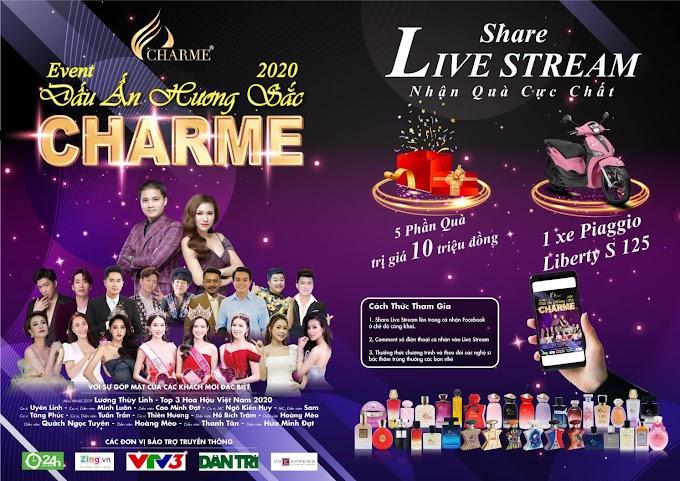 Share Livestream trúng xe Piaggio trong đêm Event CHARME - Dấu Ấn Hương Sắc 20/12/2020