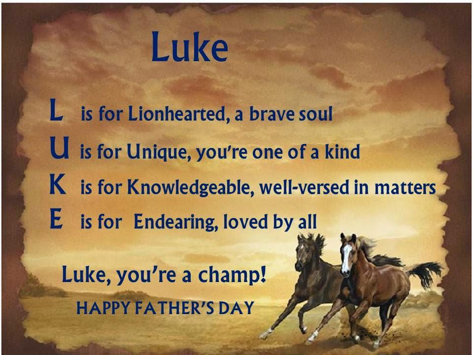 father acrostic poem