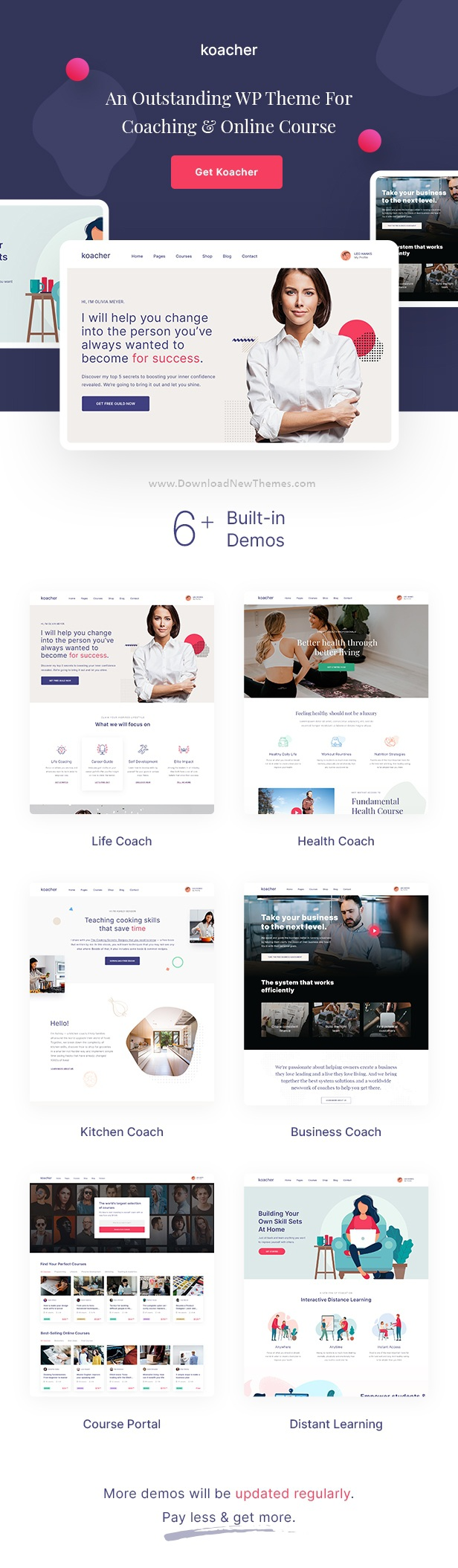 Coaching and Online Course WP Theme