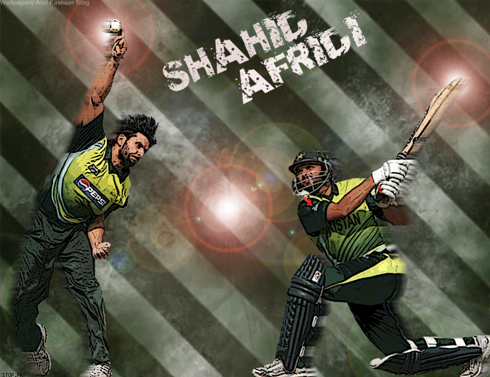 Shahid Khan Afridi In The Field Photos : Boom Boom Afridi