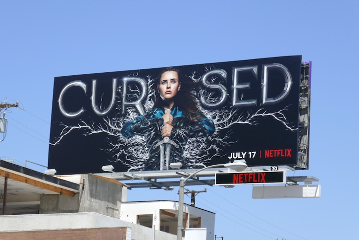 Cursed series launch billboard