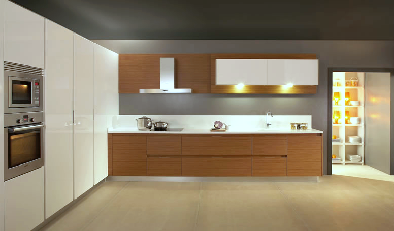 Cocinas de dise o bicolor cocinas con estilo Disenos de cocinas integrales blancas