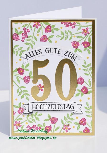 Goldhochzeit | So viele Jahre | Stampin' Up! | papiertier Indina | Wedding