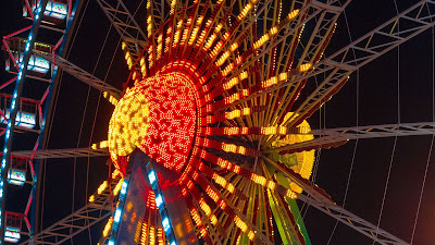 Colorful Ferris Wheel Night HD wallpaper free