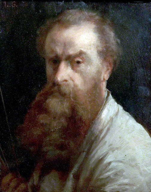 Charles-Louis Gratia, Self Portrait, Portraits of Painters, Fine arts, Portraits of painters blog, Paintings of , Self Portrait, , Painter , Self Portrait,