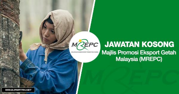 jawatan kosong Majlis Promosi Eksport Getah Malaysia (MREPC) 2020