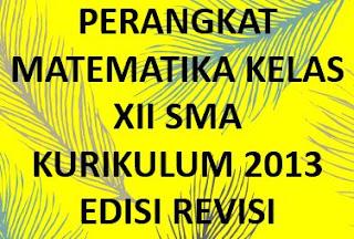 RPP Matematika SMA Kelas XII Kurikulum 2013 Revisi TP 2019/2020