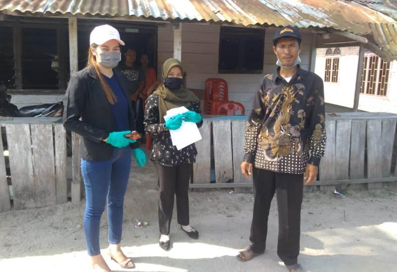 PT IBP Peduli Masyarakat Bukit Kerikil, Bantu Cegah Covid-19