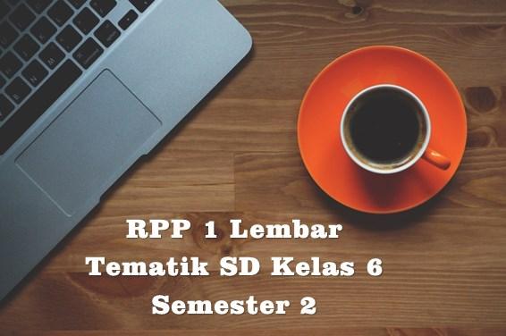 RPP 1 Lembar Tematik SD Kelas 6 Semester 1