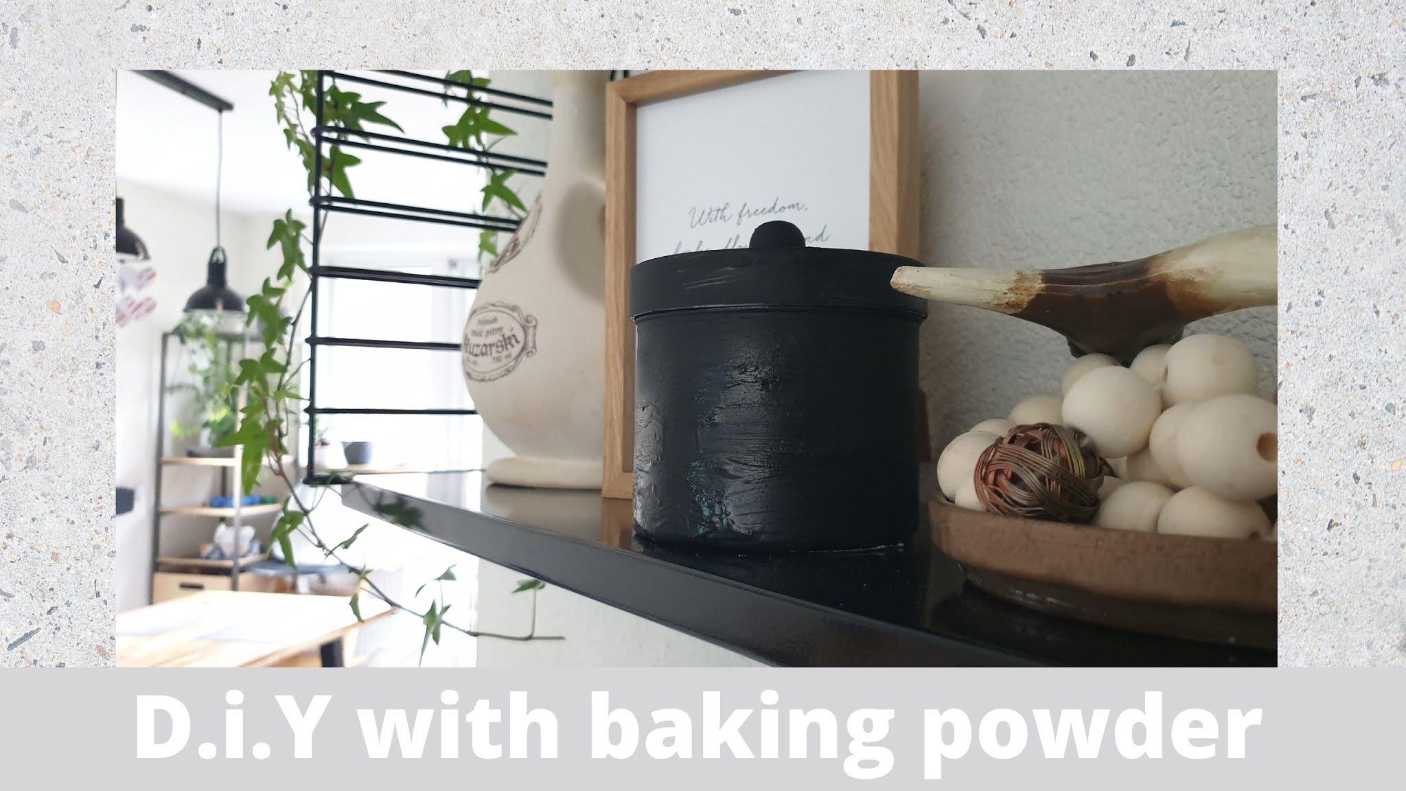 Malowanie z użyciem proszku do pieczenia DIY