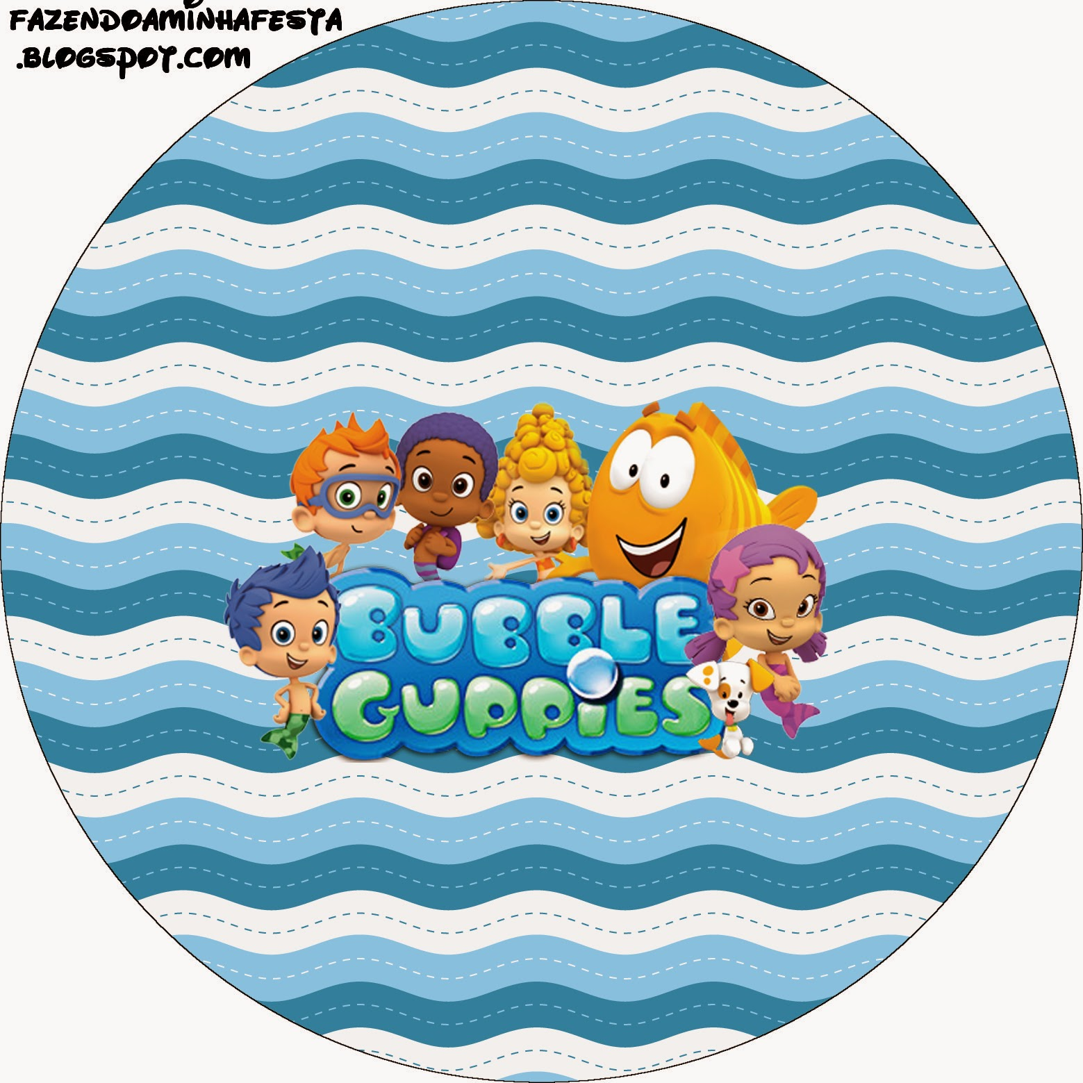 Bubble Guppies Free Printable Toppers.