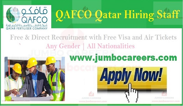 Free visa and air ticket jobs in Qatar, Current Government jobs in Qatar,