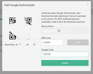 Form Add Google Authenticator | Tutorial - Cara mengaktifkan Google Authenticator di Hashnest