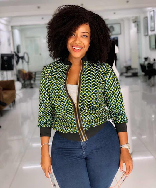 Latest Ankara tops with jeans trousers