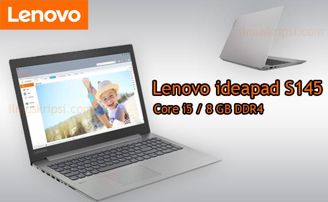 Review Harga Spesifikasi Lenovo Ideapad S145 Core  i5 -1035G1 RAM 8 GB