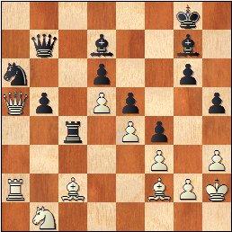 Torneo Nacional de Madrid 1941, partida de ajedrez Rey Ardid - Fuentes, posición después de 41.Da5