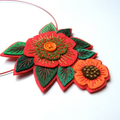 felt jewelry design
