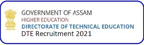 DTE Assam Admit Card Download Notice 2021