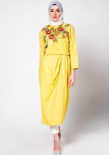 21 busana gamis modern bergaya anak muda terbaru jilbab Foto baju gamis anak muda terbaru