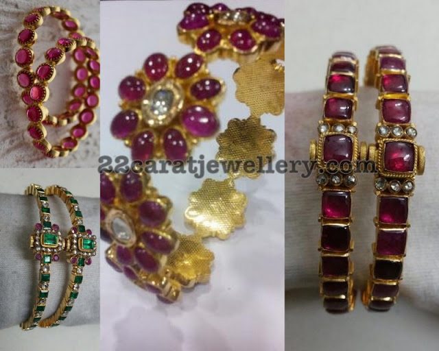 Ruby Floral Bangles Gallery