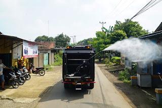 Lakukan Penyemprotan Disinfektan Di Desa BANGSRI, Kapolres Jepara Sampaikan Ini