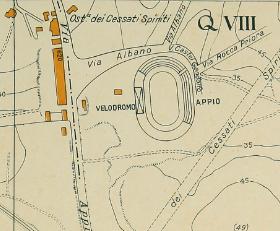 Velodromo 1934 mappa