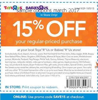 free Babies R Us coupons march 2017