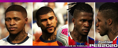 PES 2020 Faces Bergwijn, Yedlin and Zaha by Farouk