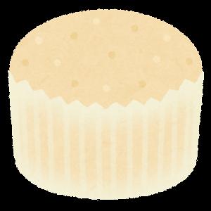 蒸しパンのイラスト(白)