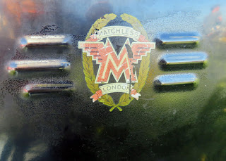 Logo on Matchless motorcycle.