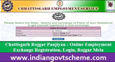 Chattisgarh Rojgar Panjiyan