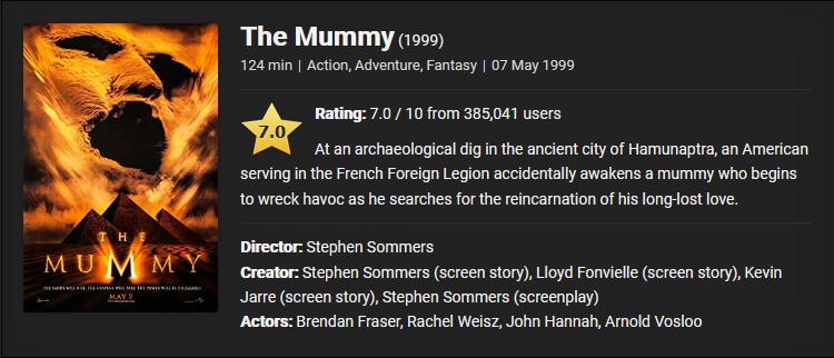 The Mummy (1999) Download Full Movie Dual Audio {Hindi-English} 480p [450MB] || 720p [800MB] || 1080p [3.7GB]