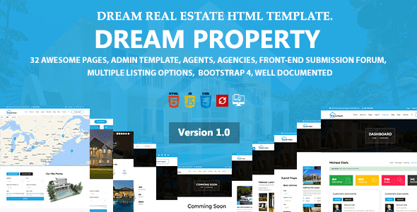 Dream Property - Real Estate HTML Template