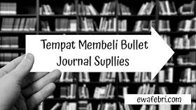 tempat beli bullet journal supplies