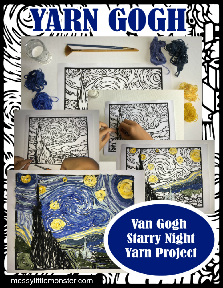 Vincent Van Gogh The Starry Night art project for kids