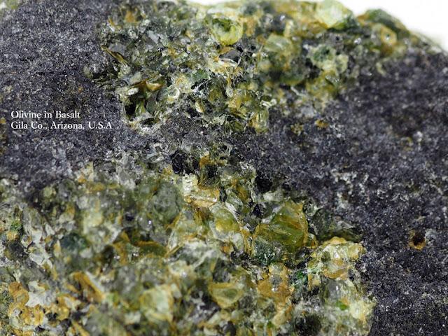 Olivine in Basalt Gila Co., Arizona, U.S.A