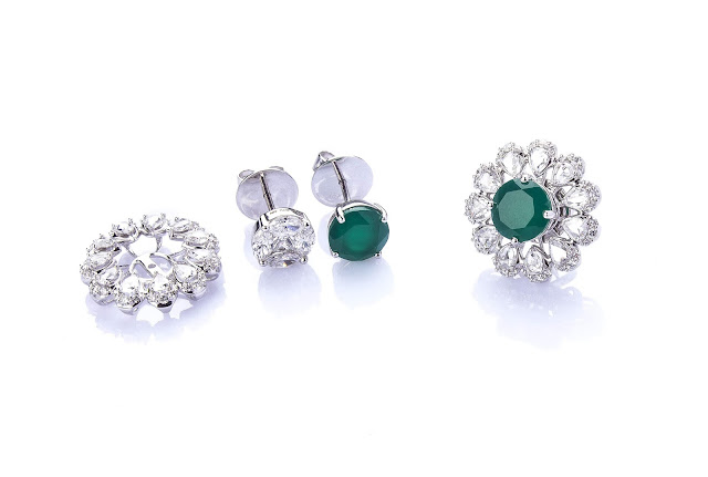 Interchangeable earrings from Aurelle by Leshna Shah
