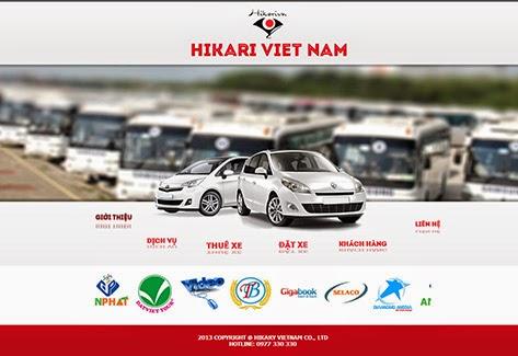 thiết kế website bán hàng cho thuê xe