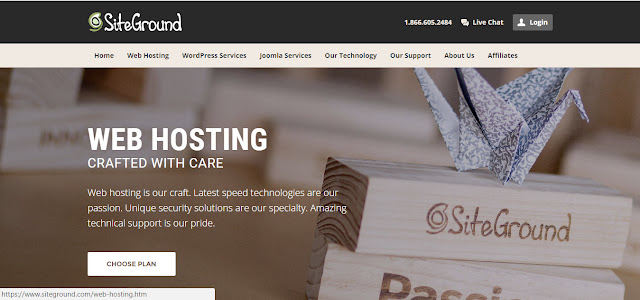 SiteGround- web hosting company recommended for WordPress blog