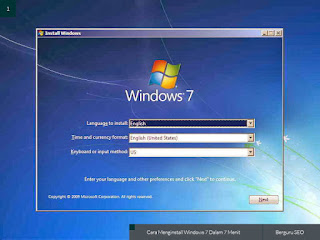 cara instal ulang windows 7