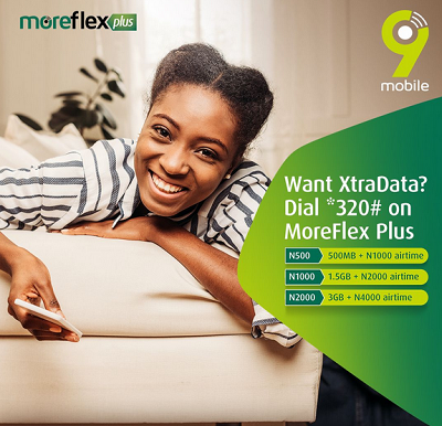 9Mobile introduces MoreFlex Plus – It gives you more data more airtime