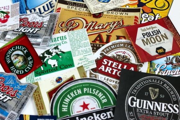 print COLORED beer labels: DIY Beer Tray | DIY Playbook