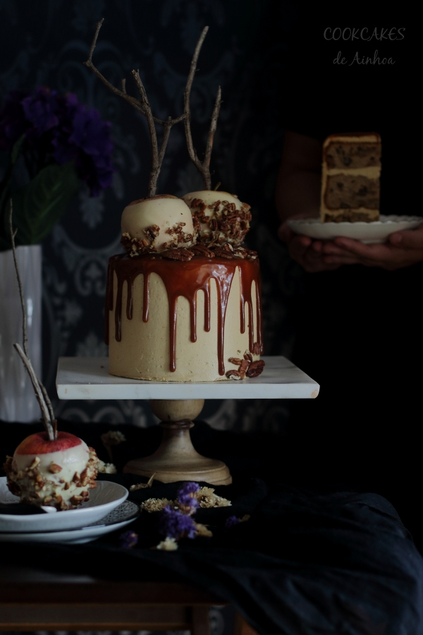 Layer Cake de Manzana y Caramelo. Deliciosa Tarta Otoñal. Cookcakes de Ainhoa