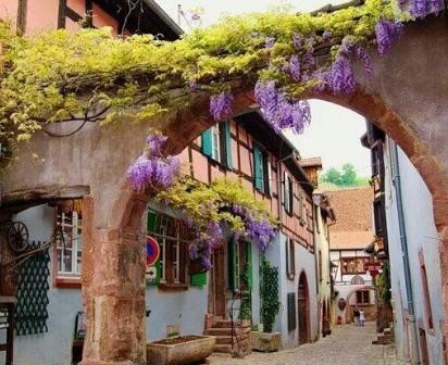 Ρικβίρ- Το χωριό με τα χρωματιστά σπίτια και τα πολύχρωμα λουλούδια στα μπαλκόνια