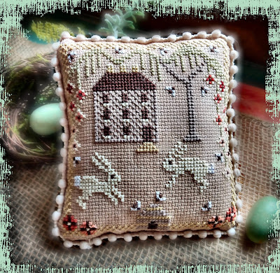 themerryoldedame etsy cross stitch chart for easter