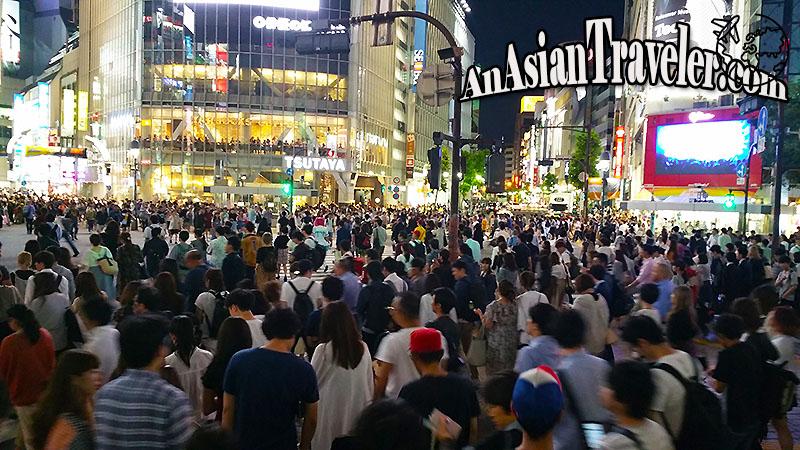 Crowd at Shibuya Crossing