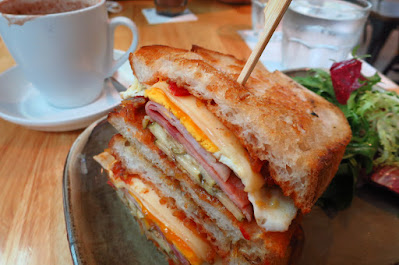 The Providore, ham cheese toastie